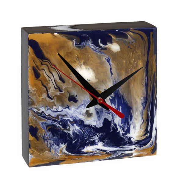 Desk Clock - Purple _ Gold