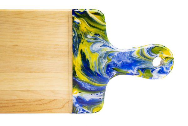 Maple wood cheese boards - blue