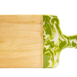 Maple wood cheese board - green