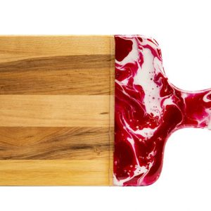 Maple wood Cheese boards - Dark Pink