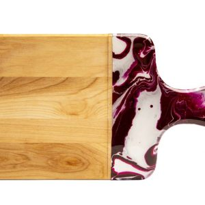 Maple wood cheese boards - purple