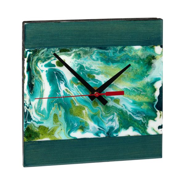 Wall Clock - Green Panel