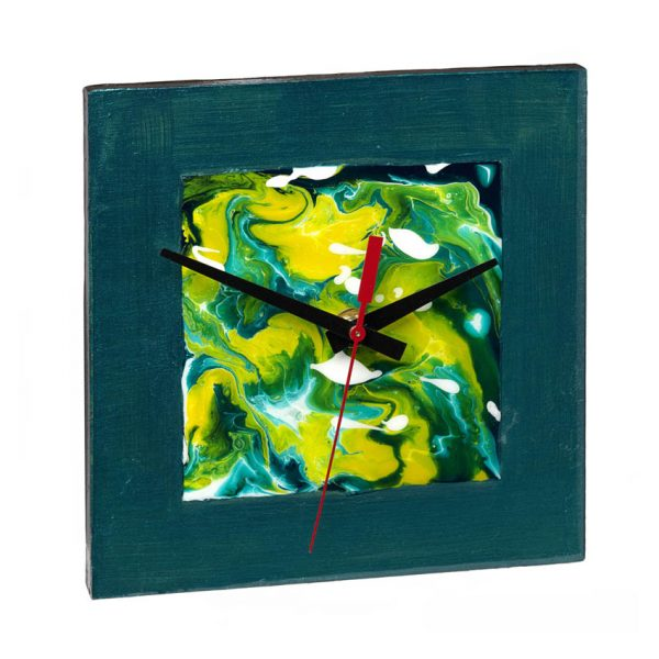 Wall Clock - Green Square