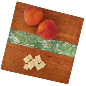 Somerset Collection - Green with fruit cherrywood platter