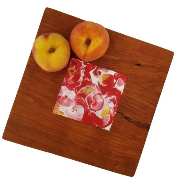 Somerset Collection - Rose cherrywood platter with Fruit overhead view